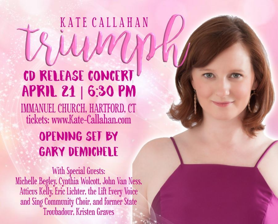 "Kate Callahan Celebrates Her ""Triumph"" with April 21st CD Release Concert"