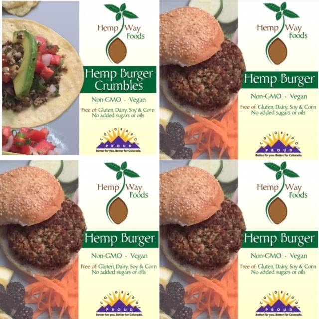 HempWay Foods logo and product presentation