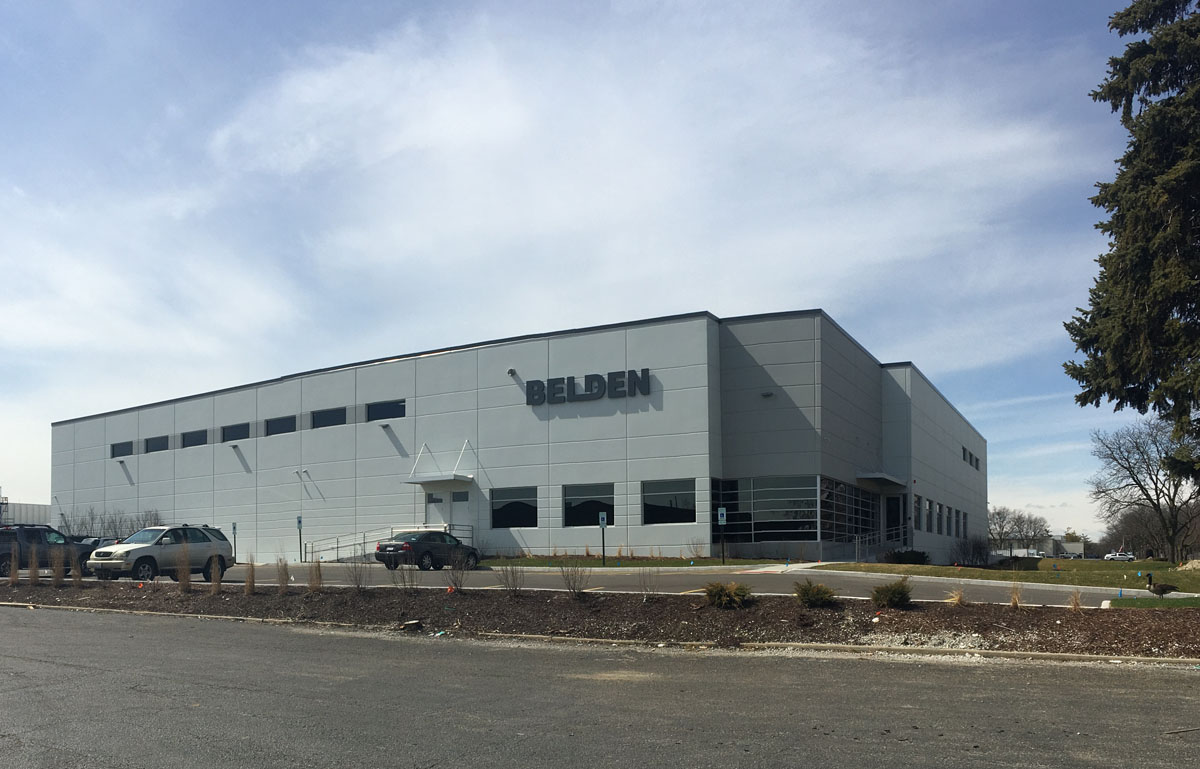 Belden Universal's new 40,000 square-foot production facility in Hillside, IL