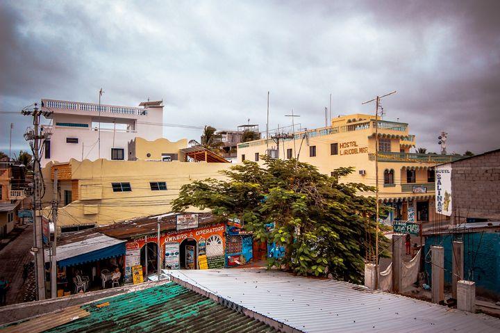 Land-based development in Puerto Ayora