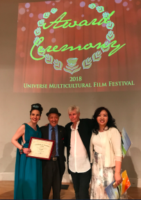 Vida Ghaffari, Aki Aleong, Gene Warren Jr. and Lynn Tang