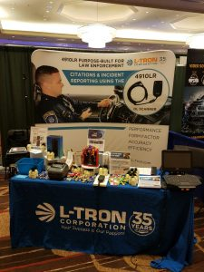 L-Tron's booth at a 2017 law enforcement event.