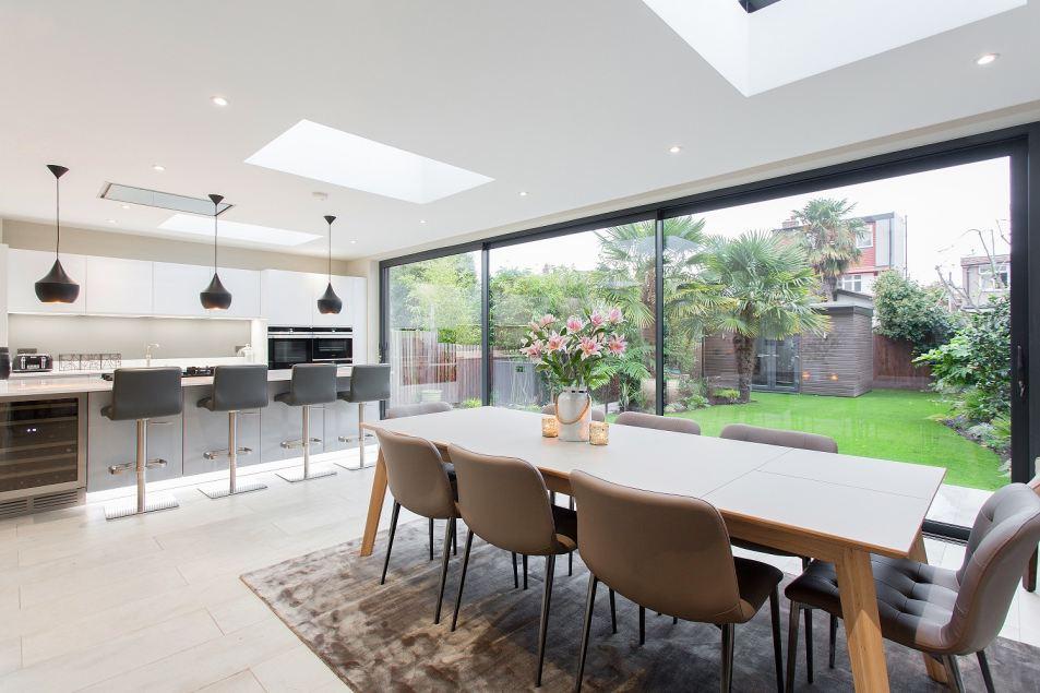 Aluminum windows London bifold doors Glass roof li