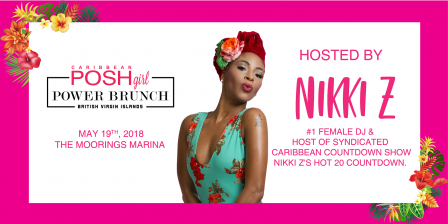 Caribbean PoshGirl Power Brunch Invite