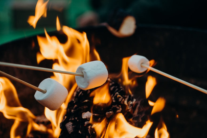 Marshmallows Over The Campfire