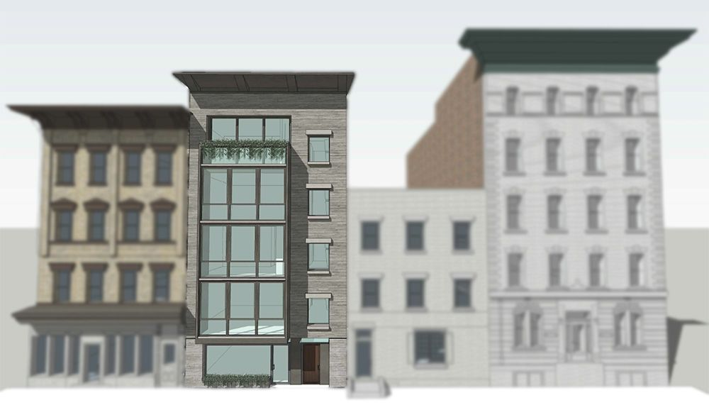 Rendering of Construction at 302-304 Garden Street Hoboken, NJ