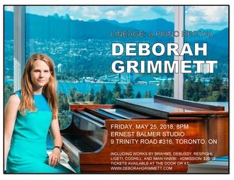 Deborah Grimmett Toronto Recital - Ernest Balmer S