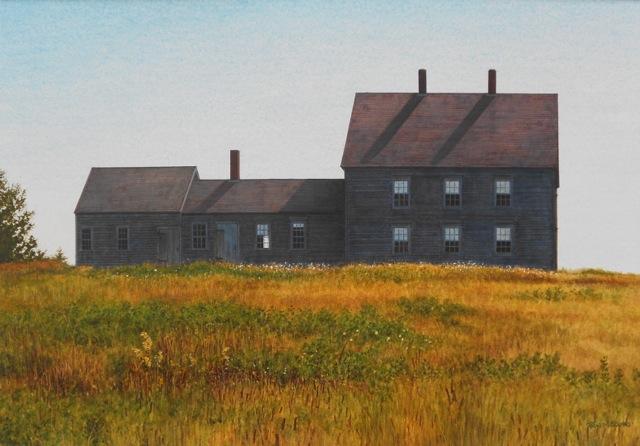 "Randy Eckard ~ ""Hilltop Silhouette"" ~ Watercolor on Paper 15"" x 21"""