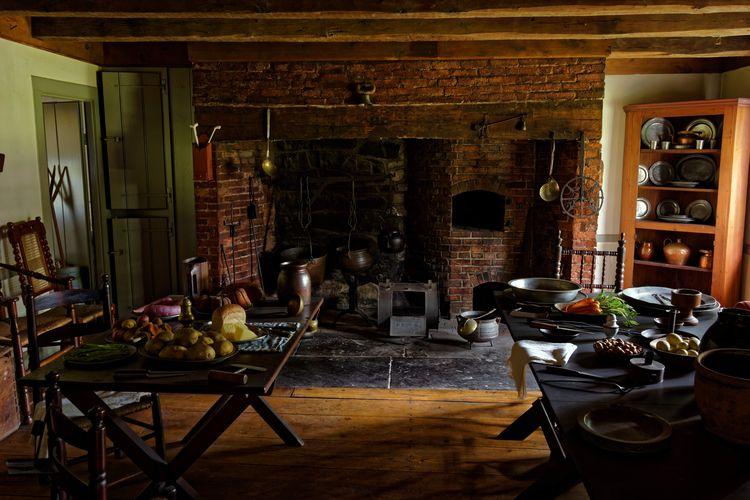 The kitchen at George Washington's Headquarters