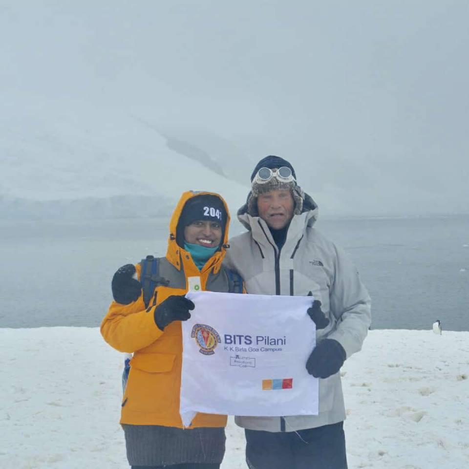 Alumnus BITS Pilani Proud to be BITSian Divya Nawale Antarctic Odyssey