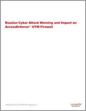 Russian Attack Technical Alert - Cover