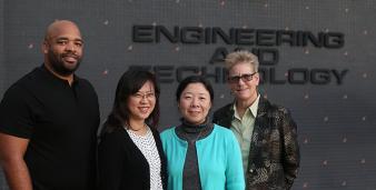 L-r: Matthew Jackson, Eun-Young Elaine Kang, Jianyu Dong, and Emily Allen.