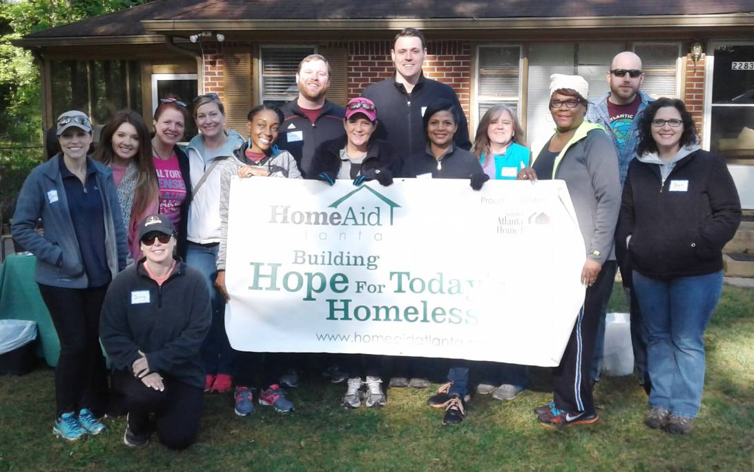 Volunteers from Mortgage Bankers Association of Georgia at Direction House