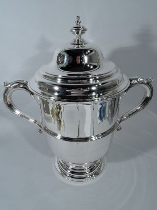 antique sterling silver english trophy cup tiffany