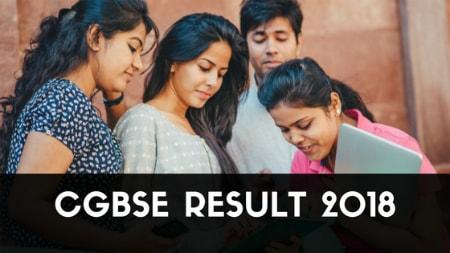 cgbse result 2018