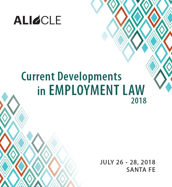 Current Developments in Employment Law 2018