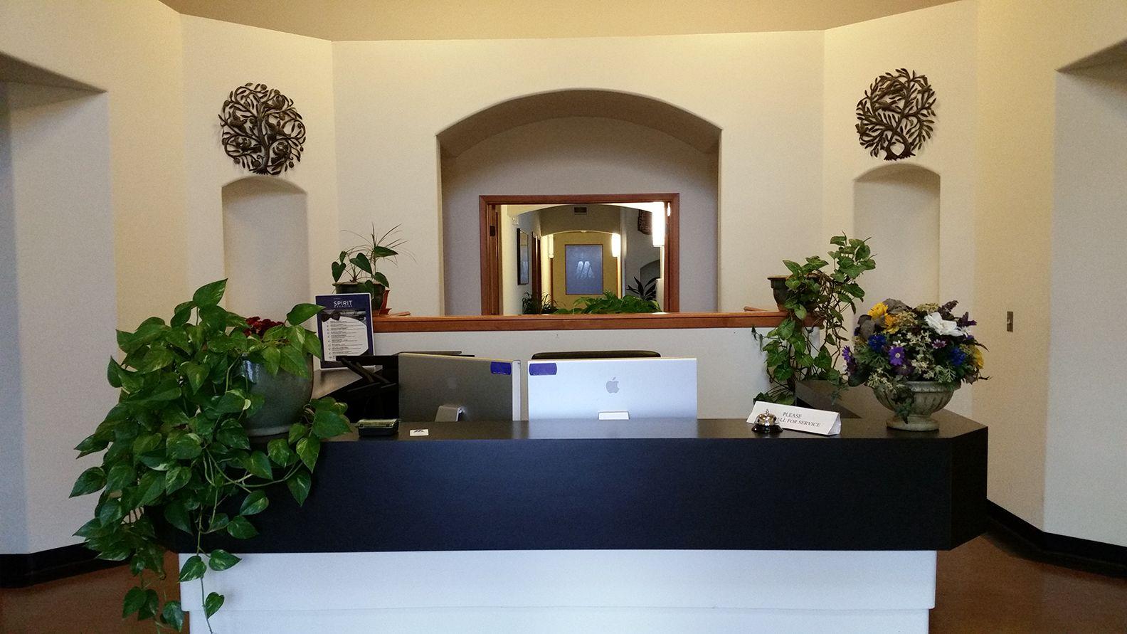 Reception area of Xynergy's Albuquerque office