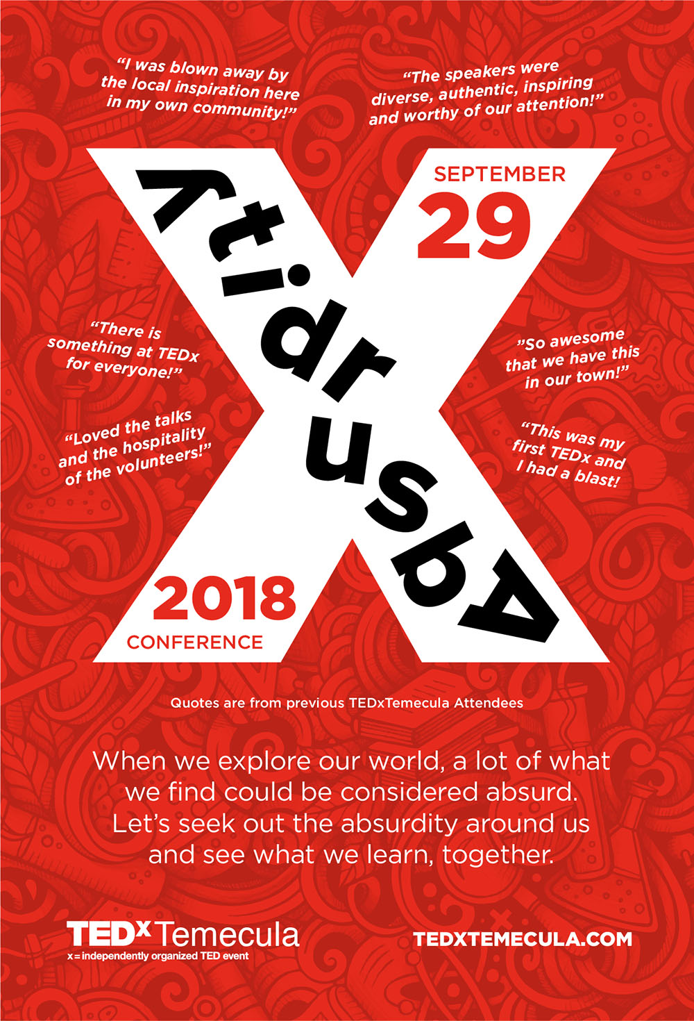 TEDxTemecula 2018 is all about Absurdity!