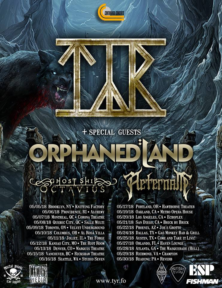 TYR-Orphaned Land N.A Tour 2018