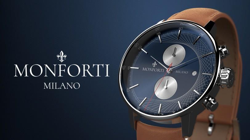 Monforti milano brings on board award winning milanese design studio monforti milano prlog for Monforti watches