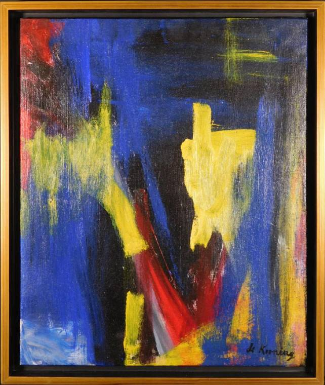Untitled abstract painting in the manner of Willem de Kooning (1904-1997).