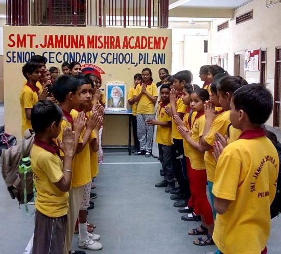 JMA Pilani Celebrates Vishwa Kavi Gurudev Rabindranath Tagore Jayanti