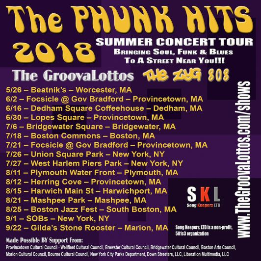 The Phunk Hits 2018 Tour Schedule