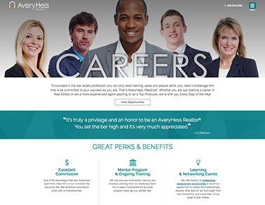 AveryHess Realtors Careers Website