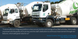 Pre-Mixed Concrete improves fleet management with