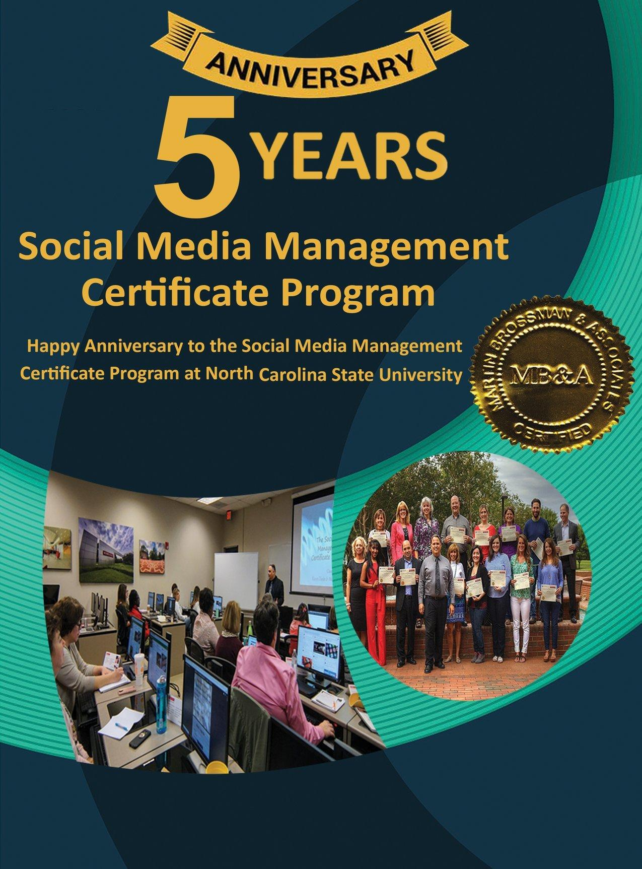 Celebrating 5 years of the Social Media Management Certificate program in RTP