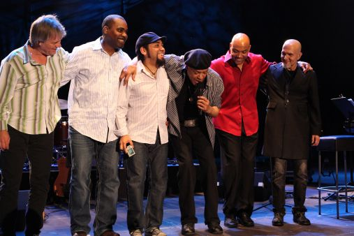 Al Jarreau (Center) Chris Walker (Immediate Right) & Band