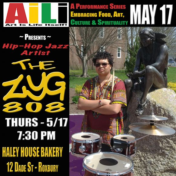 The ZYG 808 is the featured artist at AILI on May 17