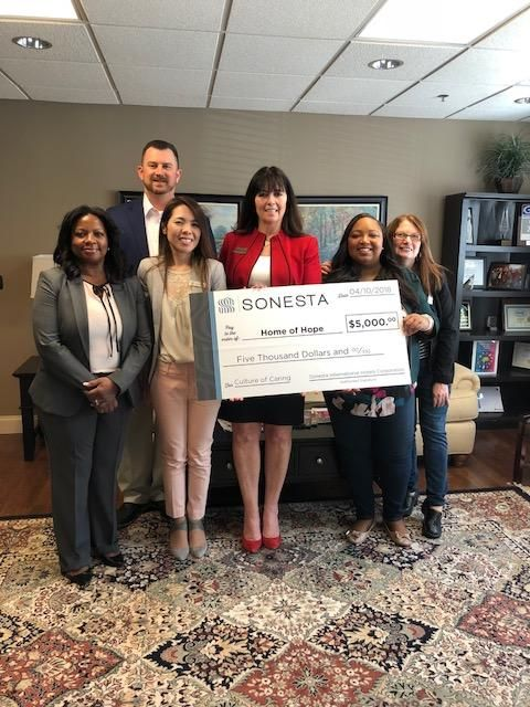 Sonesta Gwinnett Place Atlanta Presents Home of Hope with Donation