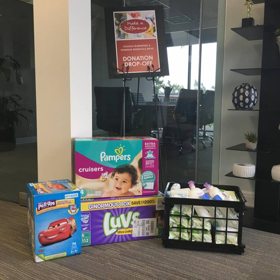 Join our drive by dropping off such essential items as diapers, wipes and food.