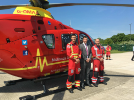 Pictured (L-R) pilot Steven Mason, Chairman Ben Powell and pilot Grant Salsby
