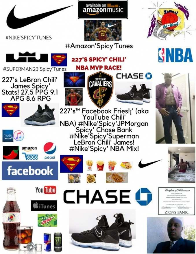 227's Facebook Fries Spicy' Chili' NBA MVP Race! LeBron Chili' James