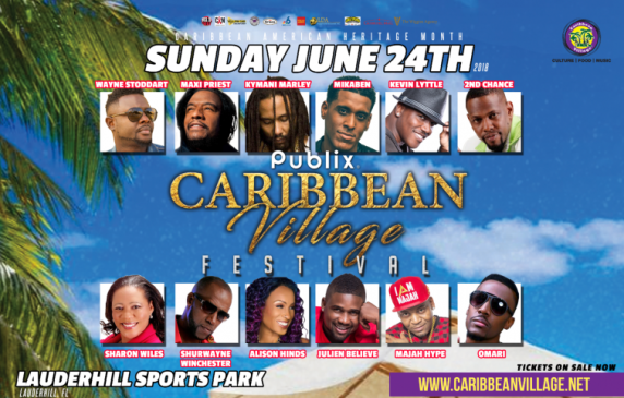 Caribbean Village Cultural Festival 2018 Line-Up Musical Greats & Entertainers