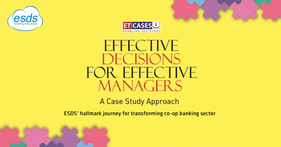 ESDS' hallmark journey for transforming co-op banking sector