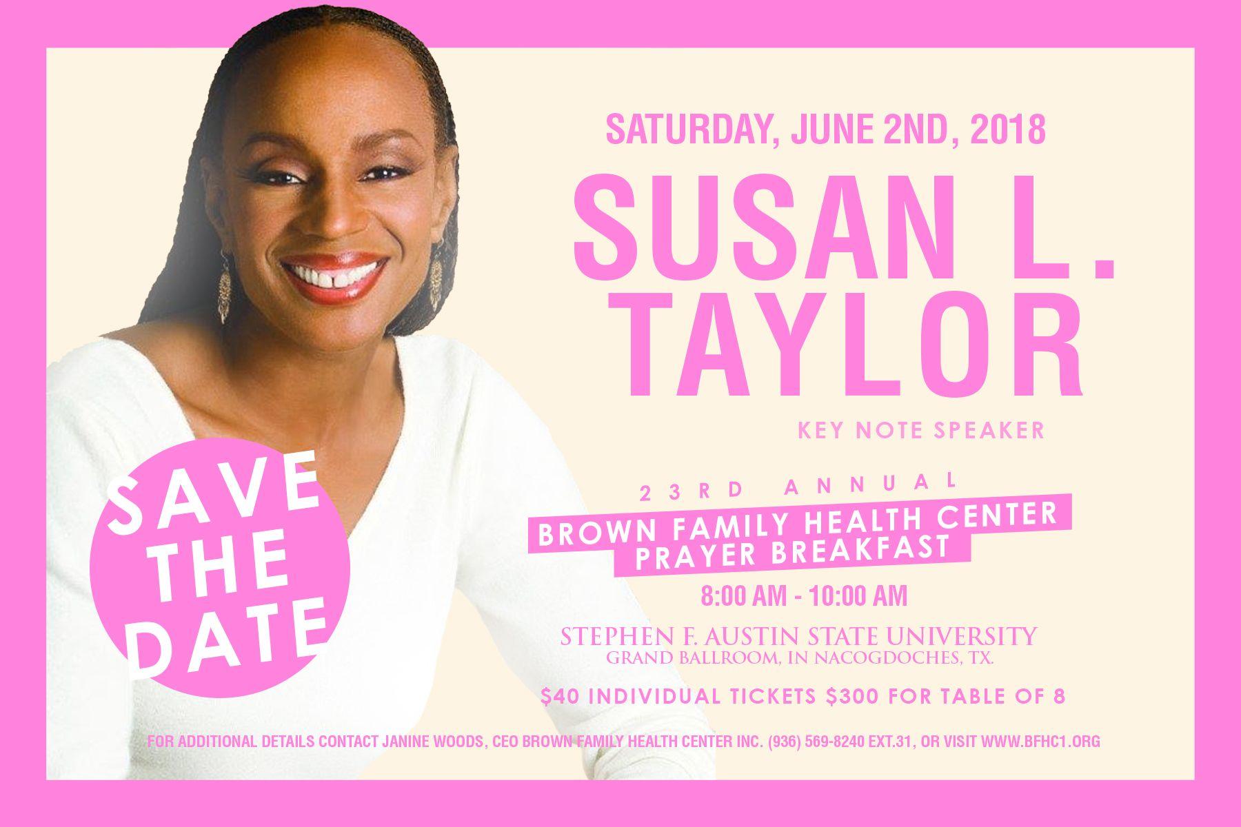 Susan L. Taylor Flyer