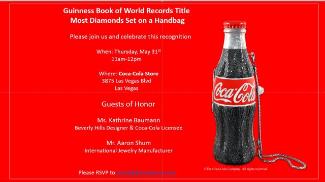 Coca-Cola Diamond Handbag Celebration - Coca-Colas Store Las Vegas