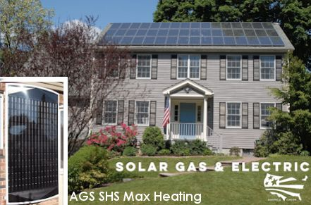 AGS installations for solar heating and electric.
