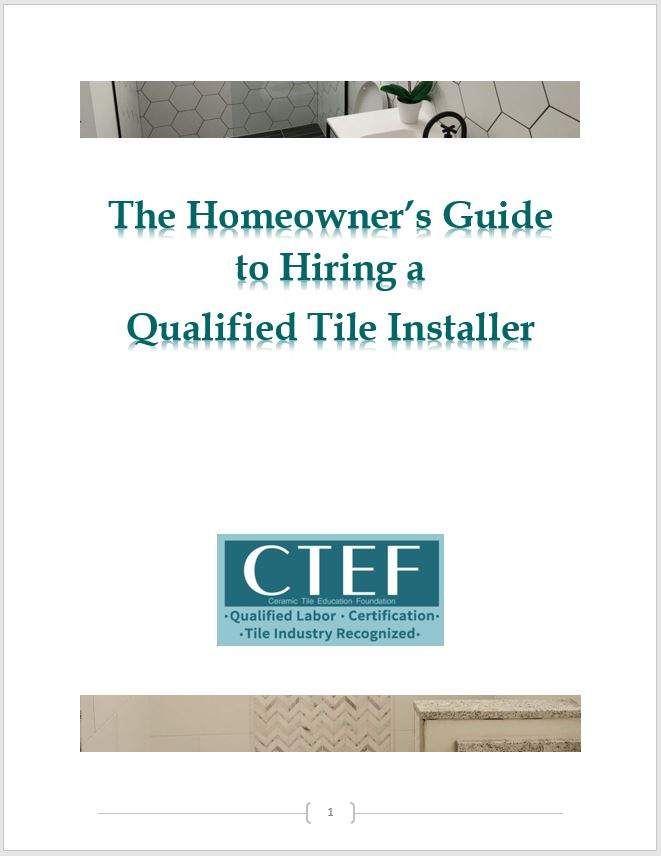 Homeowner Guide to Finding a Qualified Tile Installer