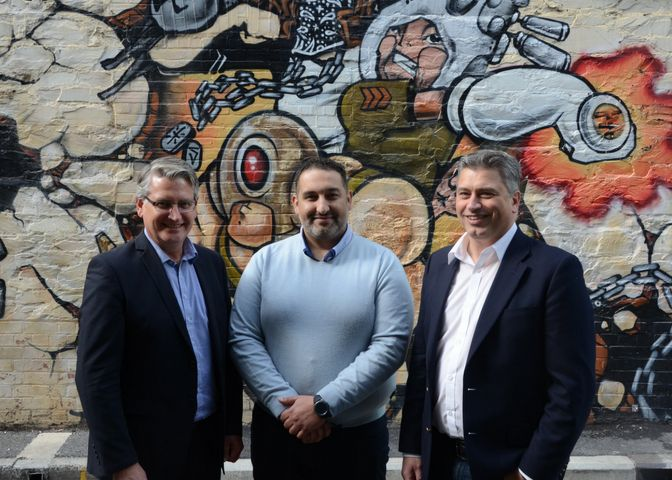 Andrew Mitchell, Sam Hassan & Robin Sands