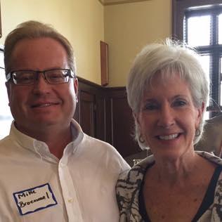 Mike Broemmel & Kathleen Sebelius