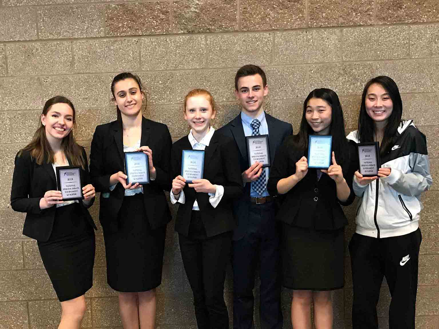 Bear Creek Forensics Team District Champions and National Qualifiers