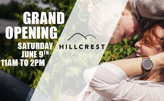 Come to the model grand opening of Hillcrest by Frontier Communities.