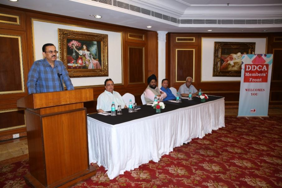 Mr. Vikas Singh addressing the Media