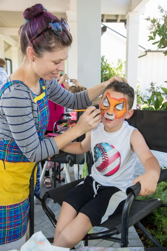 Amazing Face Painting by Linda with Jaxson Cummings at TrailMark's SummerPalooza