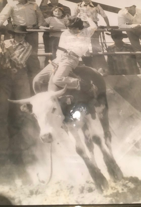 Mike E. Smith at Booger Bryant bull riding school