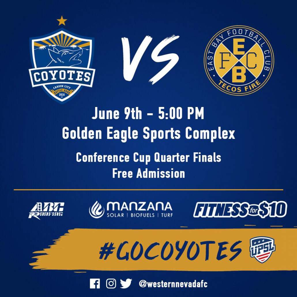 Coyotes take on East Bay Tecos Fire this Saturday